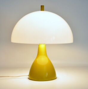 Vtg Mid Century Modern Retro Mushroom Dome Tulip Table Desk Lamp Laurel