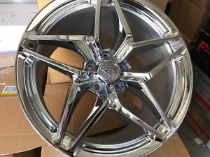 Corvette Zr1 Reproduction Wheels Chrome 19x10 18x8 5