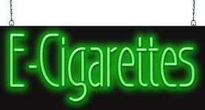 E Cigarettes Neon Sign Jantec 2 Sizes Electronic Cigs Smoke Shop