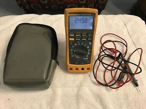 Fluke 89 Iv Multimeter True Rms With Case And Leads Free Shipping To Usa