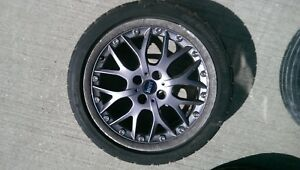 2004 Mini Cooper S Mc40 Oem Wheel W Bfgoodrich Gforce Comp2 Tire R52 R53 1 Of 3