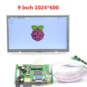 9 Inch Tft Lcd Monitor Touch Screen Driver Board Hdmi Vga Av For Raspberry Pi