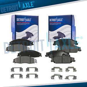 Front Rear Ceramic Brake Pads W clips For Cadillac Cts Sts Pontiac Grand Prix
