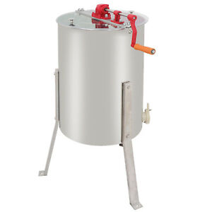 Us Large 2 Frame Honey Extractor Beekeeping Equipment Stainless Steel New
