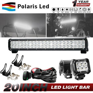 20 Led Light Bar 4 18w Led Pods Cube Wiring Fit For 86 94 Suzuki Samurai