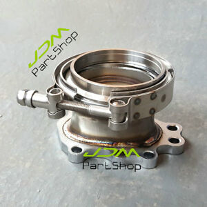 For T25 T28 Gt25 Gt28 Turbo Downpipe Flange Adaptor 8 Bolt To 3 0 V band Clamp