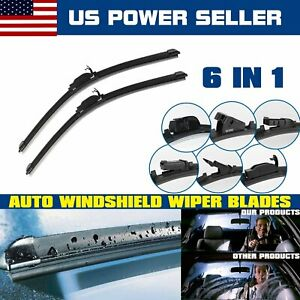 Set Of 2 Car Windshield Wiper Blades 24 16 For 2017 2011 Ford Fiesta