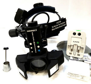 Binocular Indirect Ophthalmoscope Reachargeable With Accessories Free Shipping