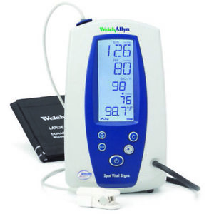 Welch Allyn Spot Vital Signs Monitor 42n0b e1 Nibp Nellcor Spo2 Pulse Rate