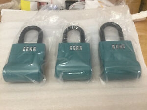 3 Shurlok Key Storage Real Estate Combination Lock Box Blue Brand New