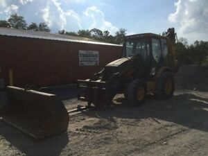 2005 Caterpillar 420d 4x4tractor Loader Backhoe W Cab Extend a hoe