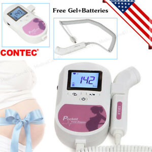 Contec Pocket Fetal Doppler 3mhz Lcd Prenatal Heart Rate Monitor Baby Sound C us