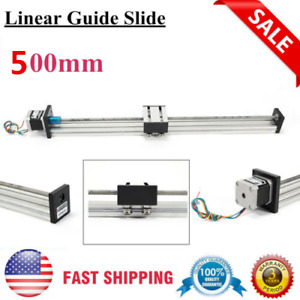 200mm Linear Actuator Guide Slide Rail Guide Accurate Linear Motion W Stepper