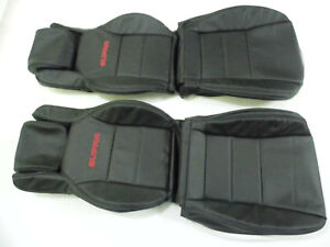 1986 5 1992 Toyota Supra Mk3 Mkiii Replacement Leather Seat Covers Black
