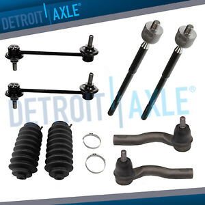 Front Sway Bar Inner Outer Tierod Boot Kit For 2010 2012 Ford Fusion 2 5 3 0l