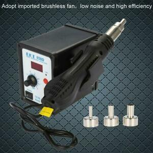 858d 2 In1 Soldering Rework Station Esd Iron Welder Gun Hot Air Gun Welder Tool