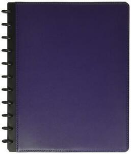 Levenger Circa Leather Foldover Notebook Letter Purple Al8390 Pu Ltr Nm