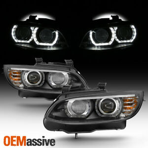 Hid xenon For 07 10 Bmw 328i 335i 3 series Coupe Led Projector Black Headlights