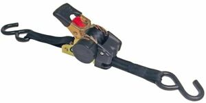 Erickson 34415 Pro Series Black Retractable Ratcheting Tie down Strap pack Of 2