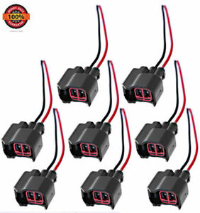 8x Pigtail Connector Of Fuel Injector For F150 F250 Crown Victoria Mustang Kits