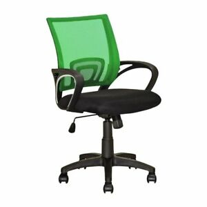 Corliving Desk Chair Workspace Light Green Black Contemporary Office Back Mesh