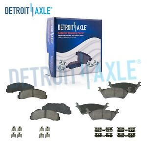 Front Rear Ceramic Brake Pads For 2012 2013 2014 2015 2016 2017 Ford F150