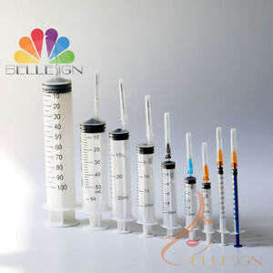 Syringes Medical Sterile Hypodermic Quality Injections 20ml 50ml 100m All Sizes