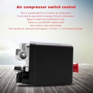 Heavy Duty Air Compressor Pressure Switch Control Valve 90 Psi 120 Psi Nd