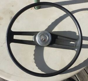 1972 77 Dodge Truck Van Steering Wheel With Horn Button black