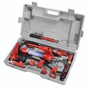 Goplus 4 Ton Porta Power Hydraulic Jack Body Frame Repair Kit Auto Shop Tool Set