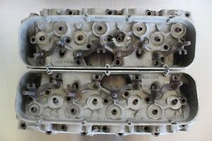 Gm 14044861 Big Block Chevy Rectangle Aluminum Cylinder Heads Bowtie Gen V Vi