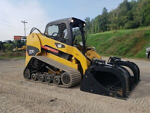 2013 Caterpillar 277c2 Compact Rubber Tracked Skid Loader W 2 Speed Cat Bucket