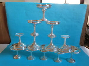 12 Sterling Silver Mhf Fred Hirsch Weighted Sherbet Dish Cups Vintage Scrap 935g