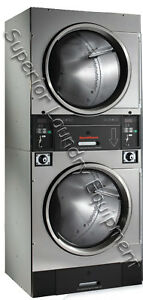 Speed Queen Stt30 Stack Dryer Stainless Steel Coin 120v 1ph Reconditioned