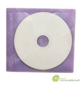 100 Non Woven Cd Dvd Purple Color Double Sided Plastic Sleeve Hold 200 Discs