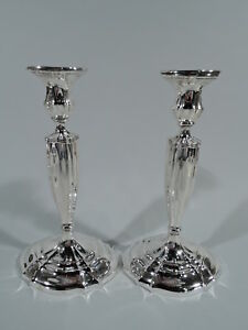 Gorham Candlesticks A705 Antique Edwardian Pair American Sterling Silver