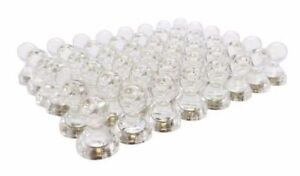 250pk 1 2 X 5 8 Clear Whiteboard Push Pin Refrigerator Magnets Us Seller
