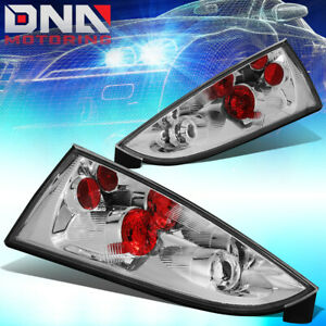 For 2002 2007 Ford Focus 5dr Wagon Chrome Housing Altezza Tail Light Brake Lamps