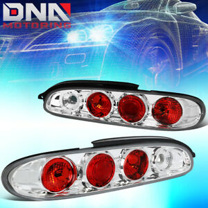 For 1993 1997 Mazda Mx6 Chrome Housing Altezza Style Tail Light Rear Brake Lamps