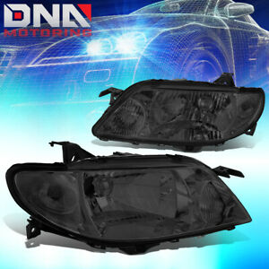 For 2001 2003 Mazda Protege Smoked Housing Clear Corner Driving Headlight lamps