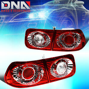For 1996 2000 Honda Civic 2dr Coupe Red Housing Altezza Style Tail Light lamps