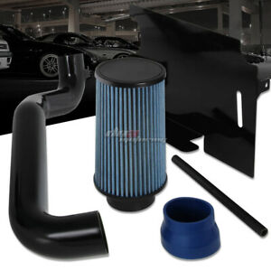 For 1998 2002 Jeep Wrangler Tj 2 5l Cold Air Intake Kit Heat Shield Blue Filter