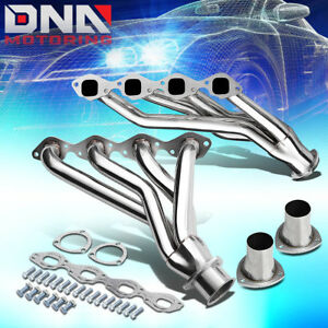 For 65 73 Chevy Gm Bbc V8 366 454 Shorty Exhaust Header Manifold W Square Port