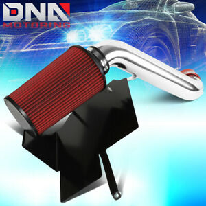 For 2002 2003 Jeep Liberty Kj 3 7l V6 Cold Air Intake W heat Shield red Filter