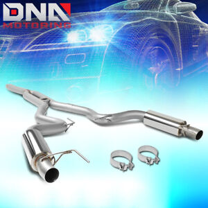 For 2015 2018 Ford Mustang Stainless Steel 3 Dual Exit Catback Exhaust System