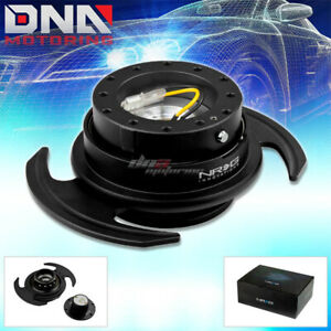 Nrg Gen 3 0 Racing Steering Wheel Quick Release Hub adapter Kit Black Body ring