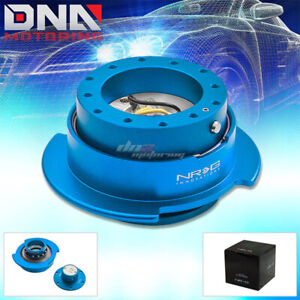 Nrg Gen 2 5 Race Steering Wheel Quick Release Hub Kit Adapter New Blue Body Ring