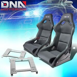Nrg Fiberglass Bucket Racing Seats Full Stainless Bracket For 99 04 Mustang Sn