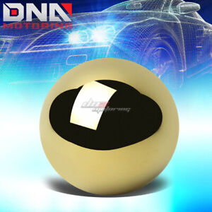 Nrg Anodized Ball Style Weighted 5 6 speed Gear Shifter Shift Knob Gold Chrome