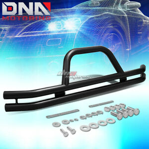 For 87 06 Jeep Wrangler Oe Style Carbon Steel Black Bumper Brush Grill Guard Kit